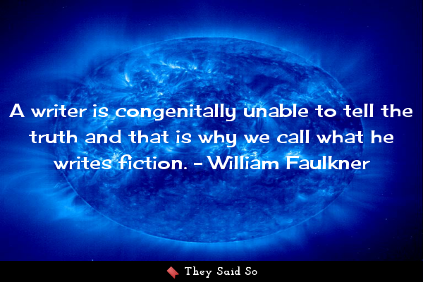 A writer is congenitally unable...