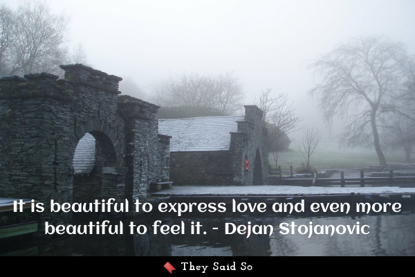 It is beautiful to express love...
