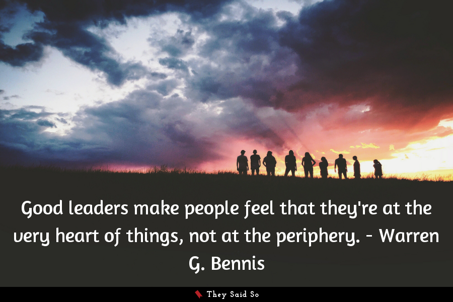 A quote by Warren G. Bennis