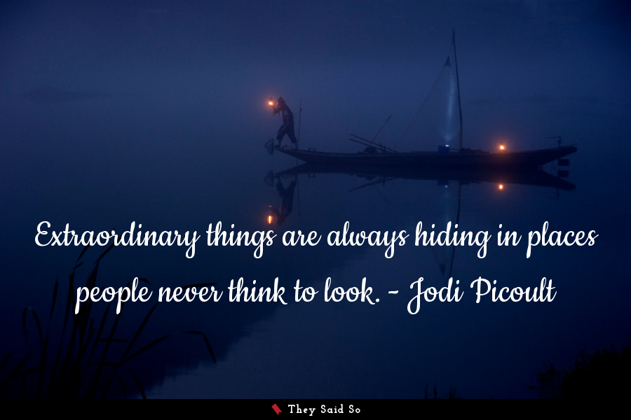 A quote by Jodi Picoult