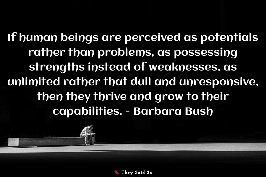If human beings are perceived as...