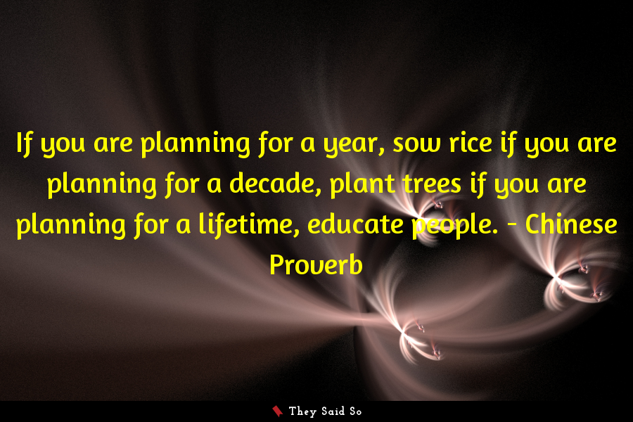 If you are planning for a year,...