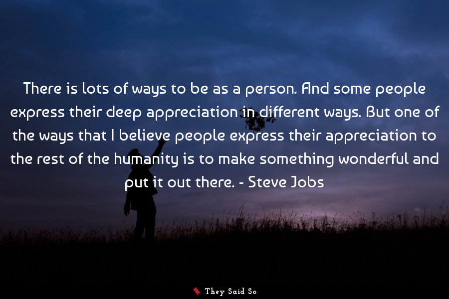 A quote by Steve Jobs