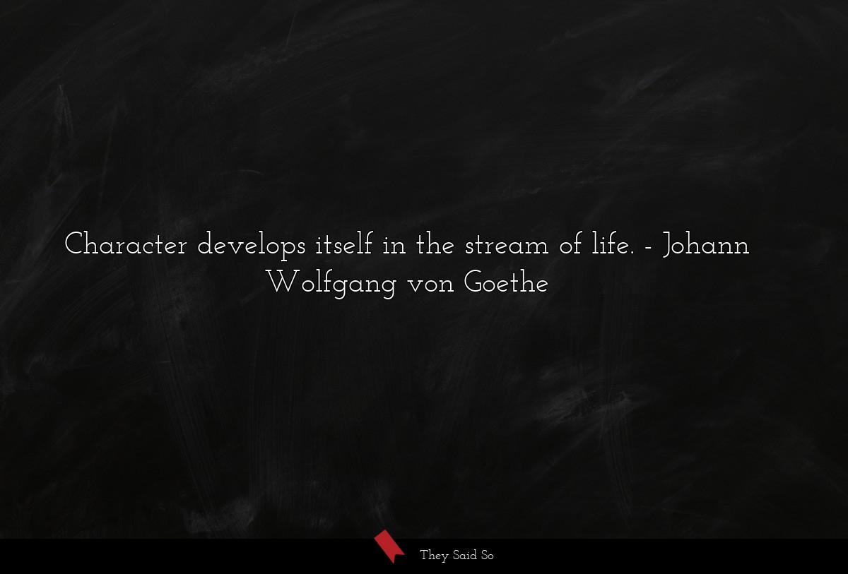 Goethe Stream