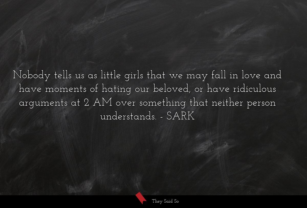 nobody tells us as little girls that we may fall... | SARK